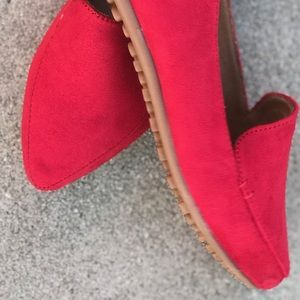 RESTOCKED! Red Pointed Toe Comfort Flat Loafer